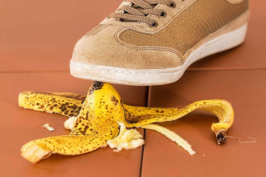 Banana, Slip and fall, personal injury, accident